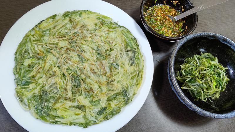 水菜のチヂミ